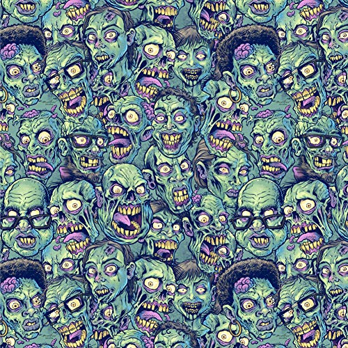 GRAPHICS & MORE Zombie Pattern Dead Corpses Undead Horror Premium Roll Gift Wrap Wrapping Paper ()