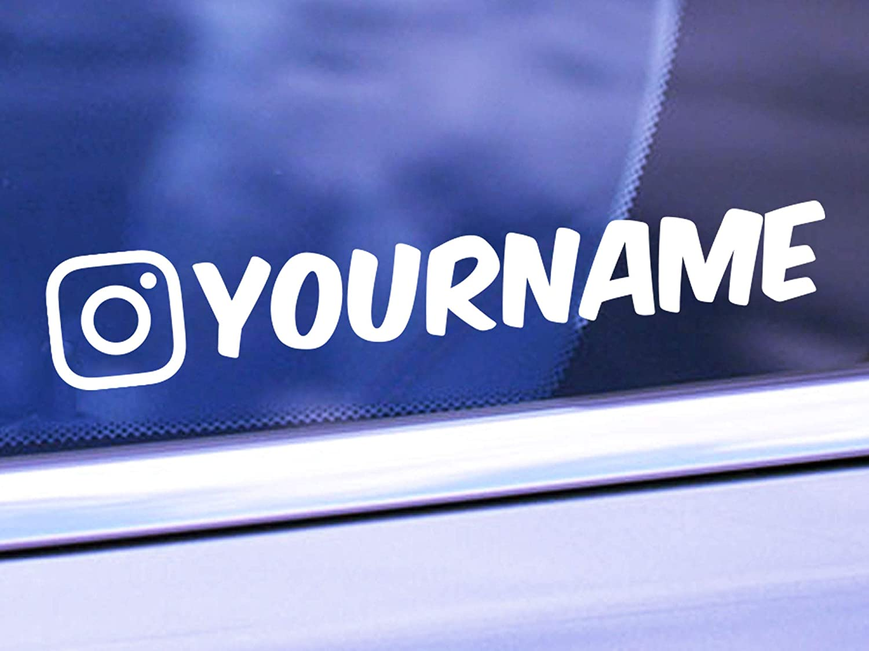 Custom Instagram Name Vinyl Decal Personalized IG Username Sticker