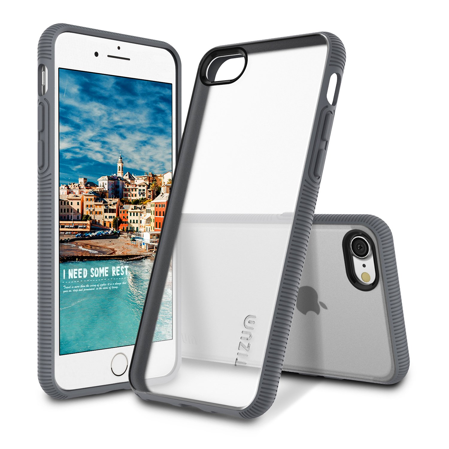 Tizum IntelliMesh Back Cover for Apple iPhone 7  Gray
