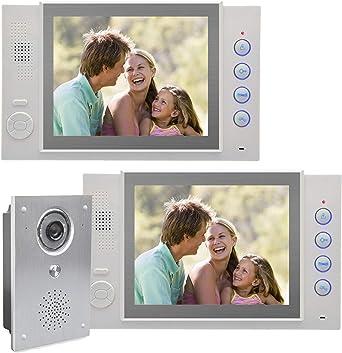 Farb Video Gegensprechanlage Türsprechanlage Bildspeicher 9 Weitwinkel Kamera