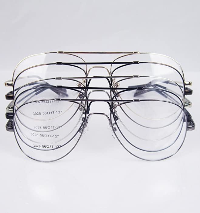 0b286bbb9e Eyewear readers Gunmetal Memory Titanium Full flex Flexible Large Size  Aviator Optical Eyeglass Frame Rx glasses non prescription glasses headband
