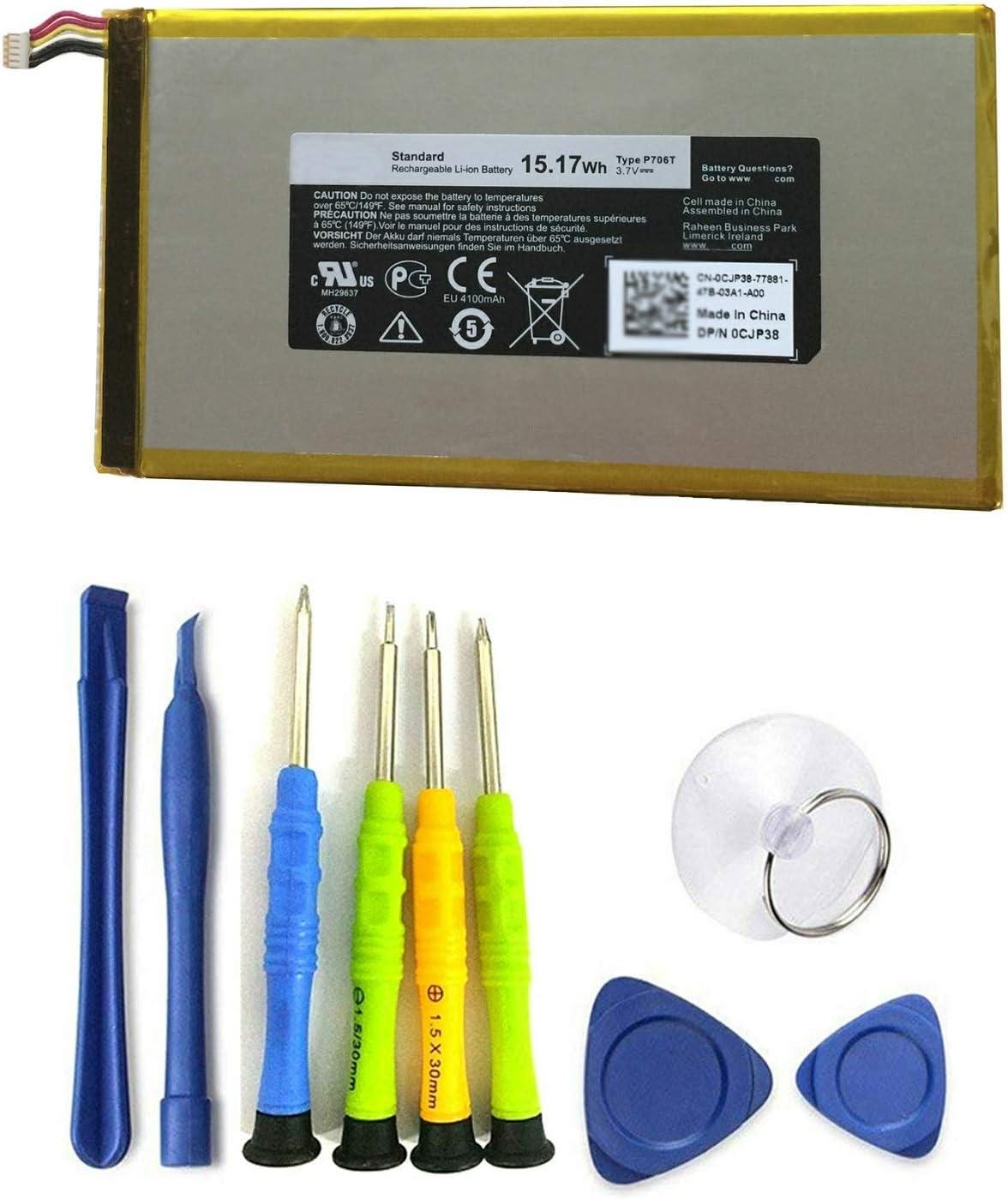 Dentsing 3.7V 15.17Wh/4100mAh P706T Laptop Battery for DELL Venue 7 3730 8 3830 Series Tablet Notebook T01C T02D