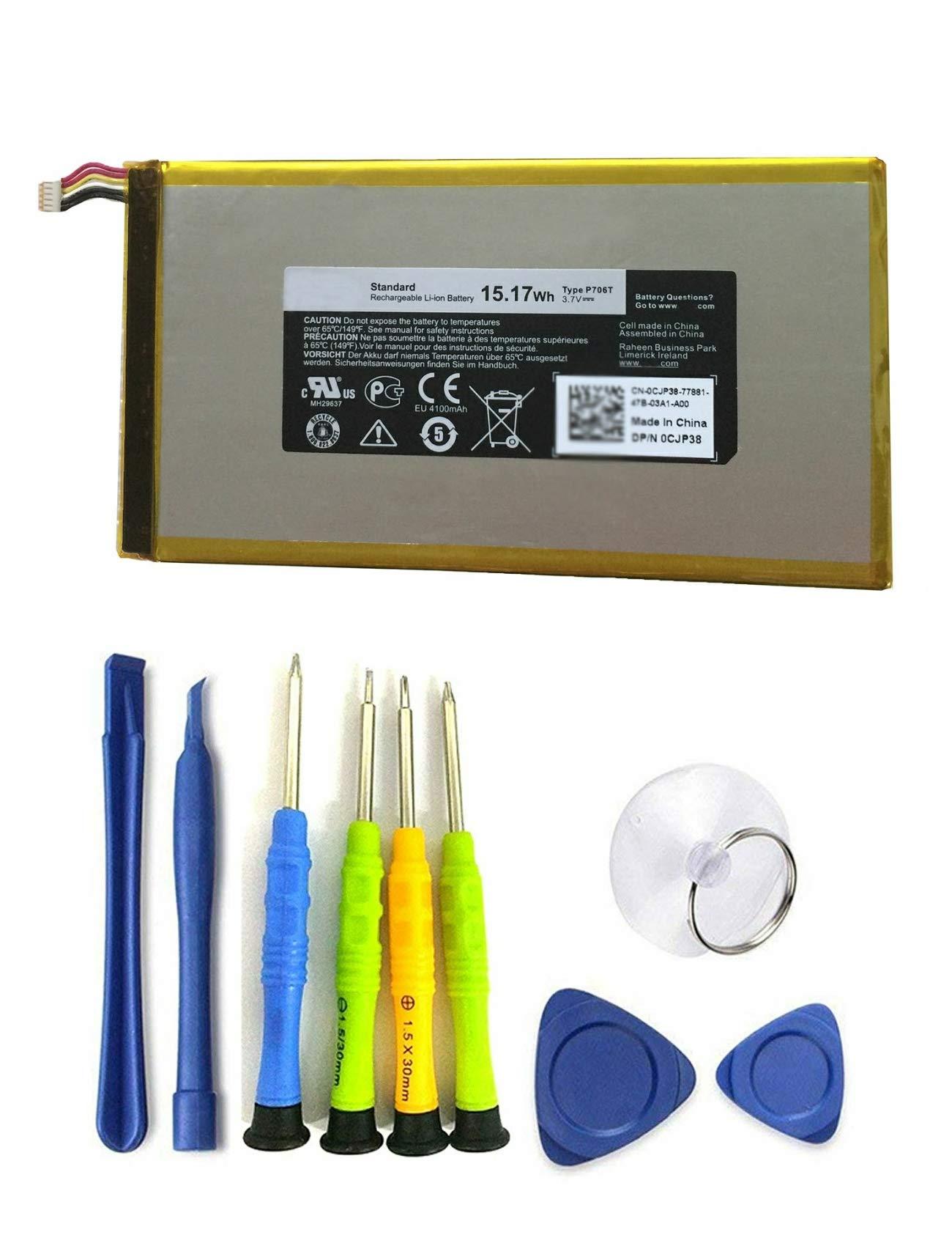 Bateria Tablet 3.7v 15.17wh/4100mah P706t Para Dell Venue 7