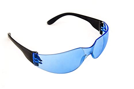 0cbf017b2830 Wrap Around Safety Glasses. ANSI, CE Blue lense. Pack of 12 Anti Scratch