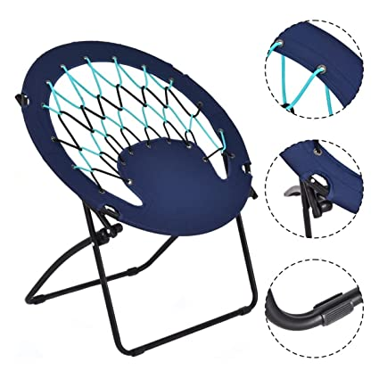 Pleasing Amazon Com New Folding Round Bungee Chair Steel Frame Caraccident5 Cool Chair Designs And Ideas Caraccident5Info