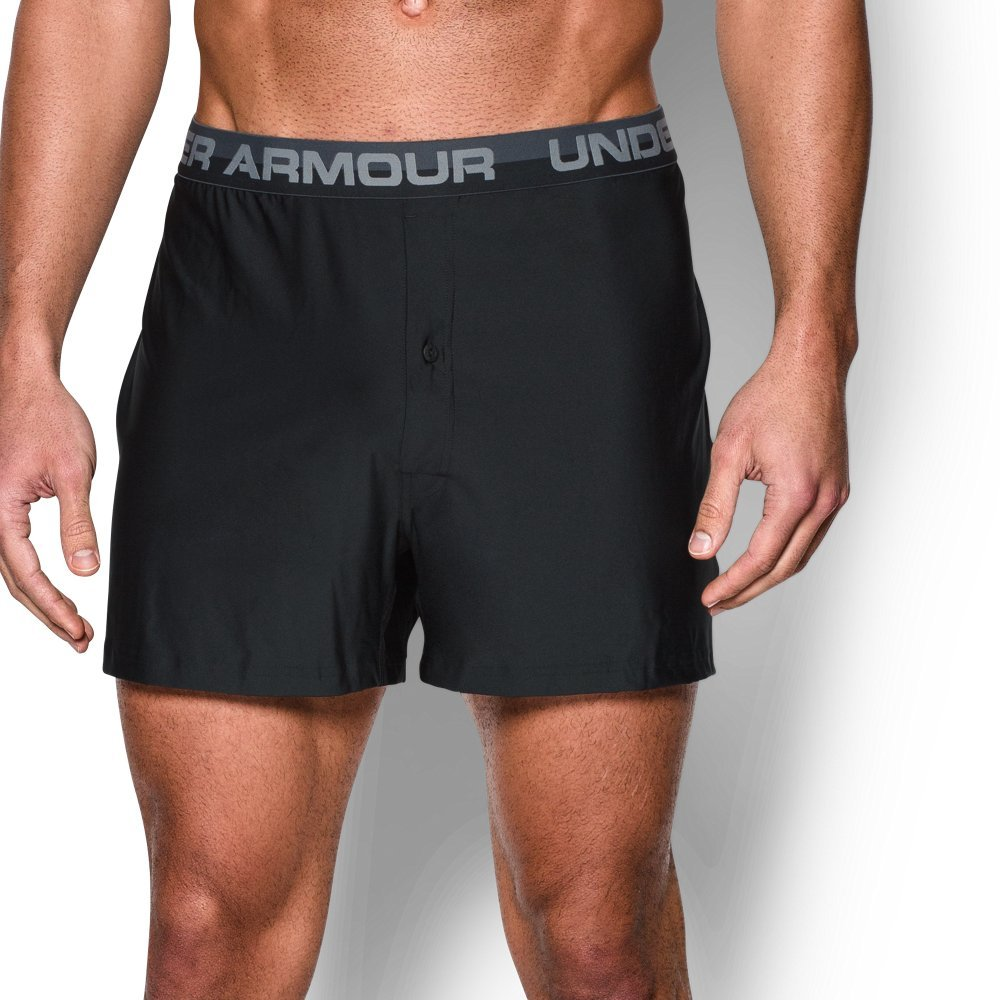 Under Armour Men's Original Series Boxer Shorts, Black/Steel, Large by Under Armour
