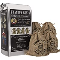 Grandpa Gus's Mouse Repellent; Peppermint and Cinnamon Oil, Freshen Air, Repel Mice from Nesting and Absorbs Leftover…