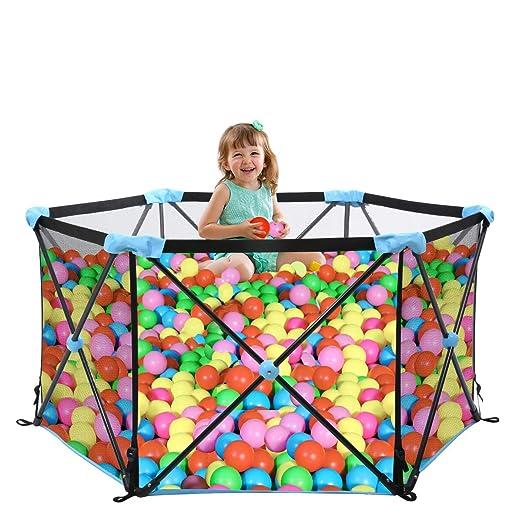 Parque de juegos portátil para bebés WiPALO, parque infantil ...