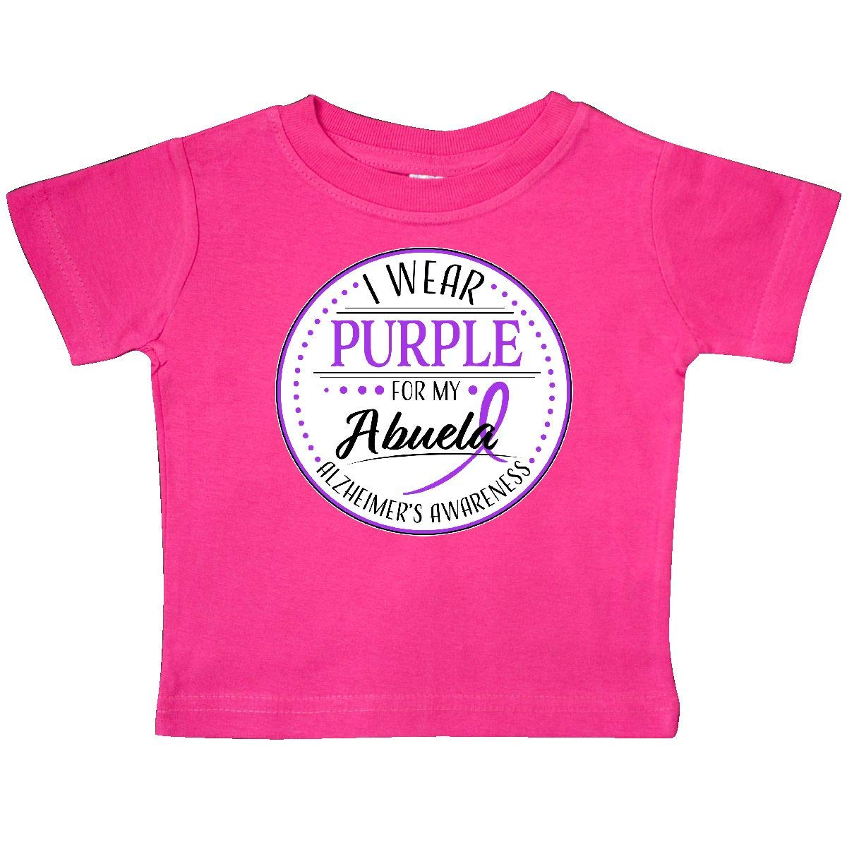 inktastic I Wear Purple for My Abuela Alzheimers Awareness Baby T-Shirt