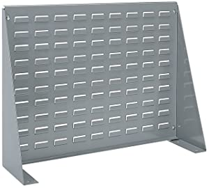 Akro-Mils 98600 Louvered Steel Panel Bench Rack for Mounting AkroBins, 28-Inch L by 20-Inch H by 8-1/2-Inch W, Grey
