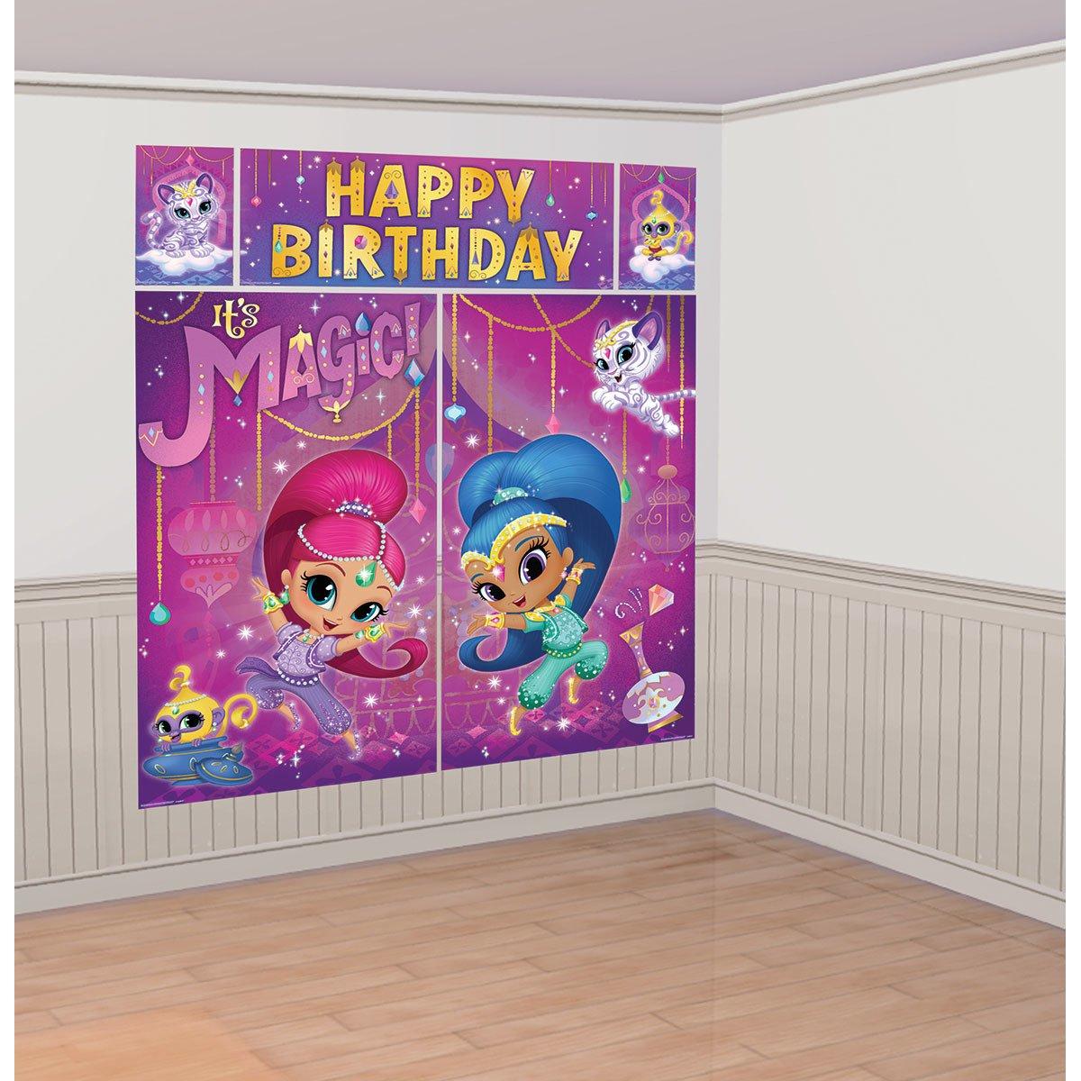 Amscan International 670575Decorazione da parete, motivo: Shimmer and Shine 670575-99