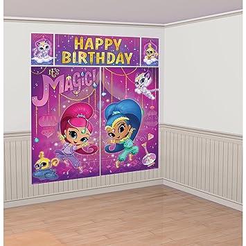 Amscan International 670575 99Scene Setter Kitshim And Shine Wall Decoration Set Amazoncouk Toys Games