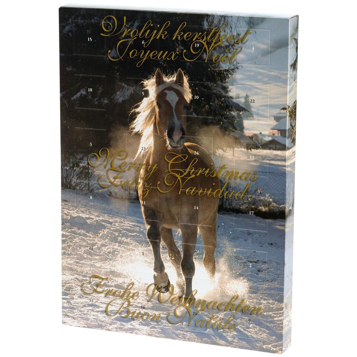 Adventskalender Schmuck mit Pferde-Motiv - fü r Kinder, Mä dchen, Teenies - mit Armbä ndern, Kette, Collier, Charms & Beads Pureday