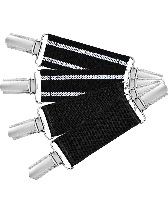 Dunkelblau 4 St/ück Starke Edelstahl Handschuh Clips Elastische Handschuhe Caps Clips f/ür Baby und Kinder