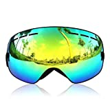 GANZTON Ski Goggles Snowboard goggles Skiing Goggles Double Lens Anti-UV Anti-Fog Skating Goggles For Women And Men, Boys And Girls
