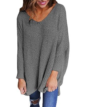 cheap for discount 0dbe3 4259d Longpullover Strickpullover Damen Oversize Lange Pullover ...