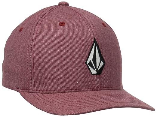 best website 57b80 4af17 cheap volcom mens full stone flexfit hat crimson small medium 0bdc7 5e301