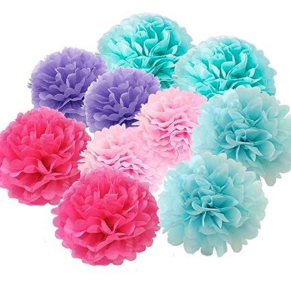 Amazon x sunshine tissue paper flower 10pcs 20cm 25cm with 5 x sunshine tissue paper flower 10pcs 20cm 25cm with 5 colors decorative hanging flower balls mightylinksfo