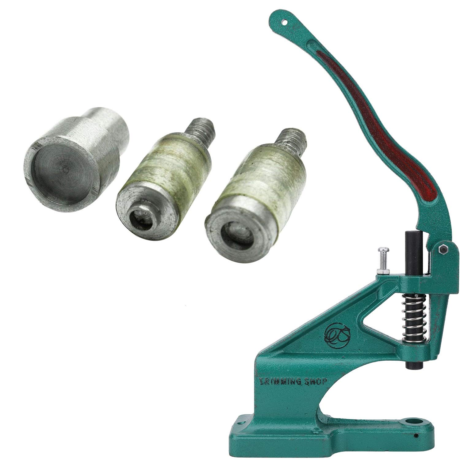 Trimming Shop Universal Green Hand Rivet Press Machine /& Die Set for KAM Snaps in T3 Size 16-10.7mm