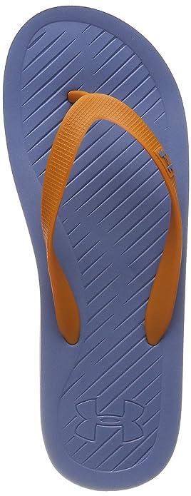 7c5573fe085b Under Armour Men s Atlantic Dune Flip-Flop Sandal Thunder Honey  Orange Thunder 7
