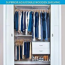 closet shelving. Organized Living FreedomRail Ultimate Adjustable Closet Kit , 48\ Shelving 1