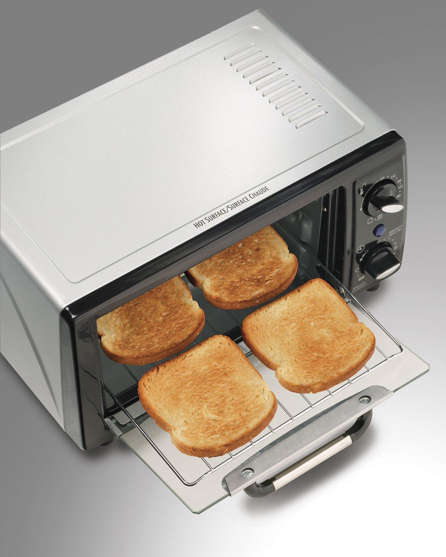 Amazon.com: Hamilton Beach 31134 4 Slice Capacity Toaster Oven ...