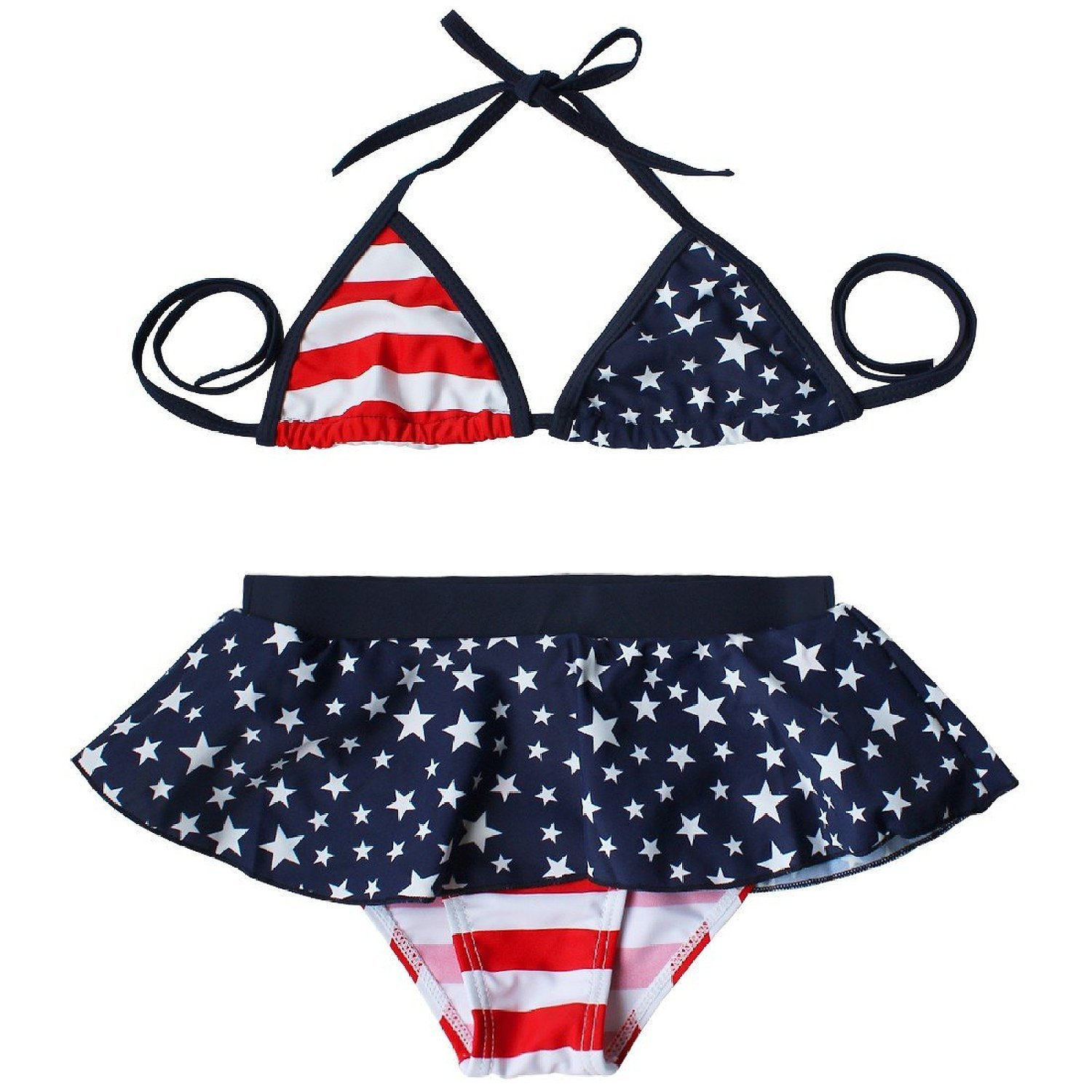 50a30bb29117b Top1: Baby Girl American USA Flag Stars Print Bikini Swimwear Swimsuit  Swimming