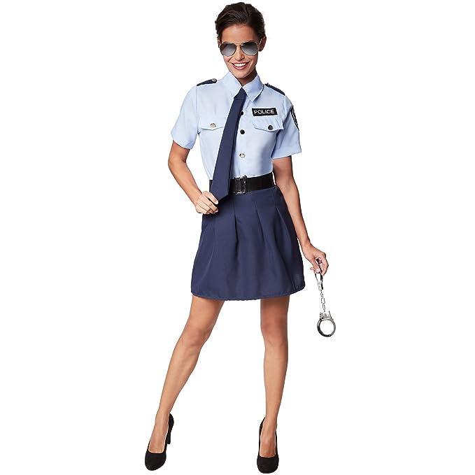 TecTake dressforfun Disfraz para Mujer de Mujer policía | Incl ...