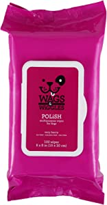 Wags & Wiggles Very Berry Polish Multipurpose Dog Wipes, Count of 100, .967 LB
