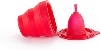 Ruby Clean - Vaso esterilizador plegable de silicona para copas ...