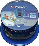 Verbatim Datalife inkjetprinter Spindel. 50 Stuk blauw, grijs, wit.