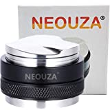 NEOUZA 53mm Coffee Distributor & Tamper 2 in 1,Dual Head Coffee Leveler Fits for 54mm Breville Portafilter, Adjustable…