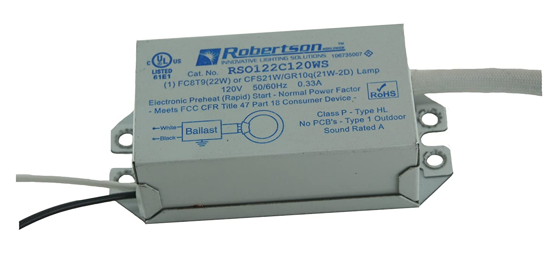 ROBERTSON 3P20025 RSO122C120WS /A eBallast Preheat Rapid Start 1 L& (FC8T9) Normal Power Factor 120Vac. Ballasts - Amazon Canada  sc 1 st  Amazon.ca & ROBERTSON 3P20025 RSO122C120WS /A eBallast Preheat Rapid Start 1 ...