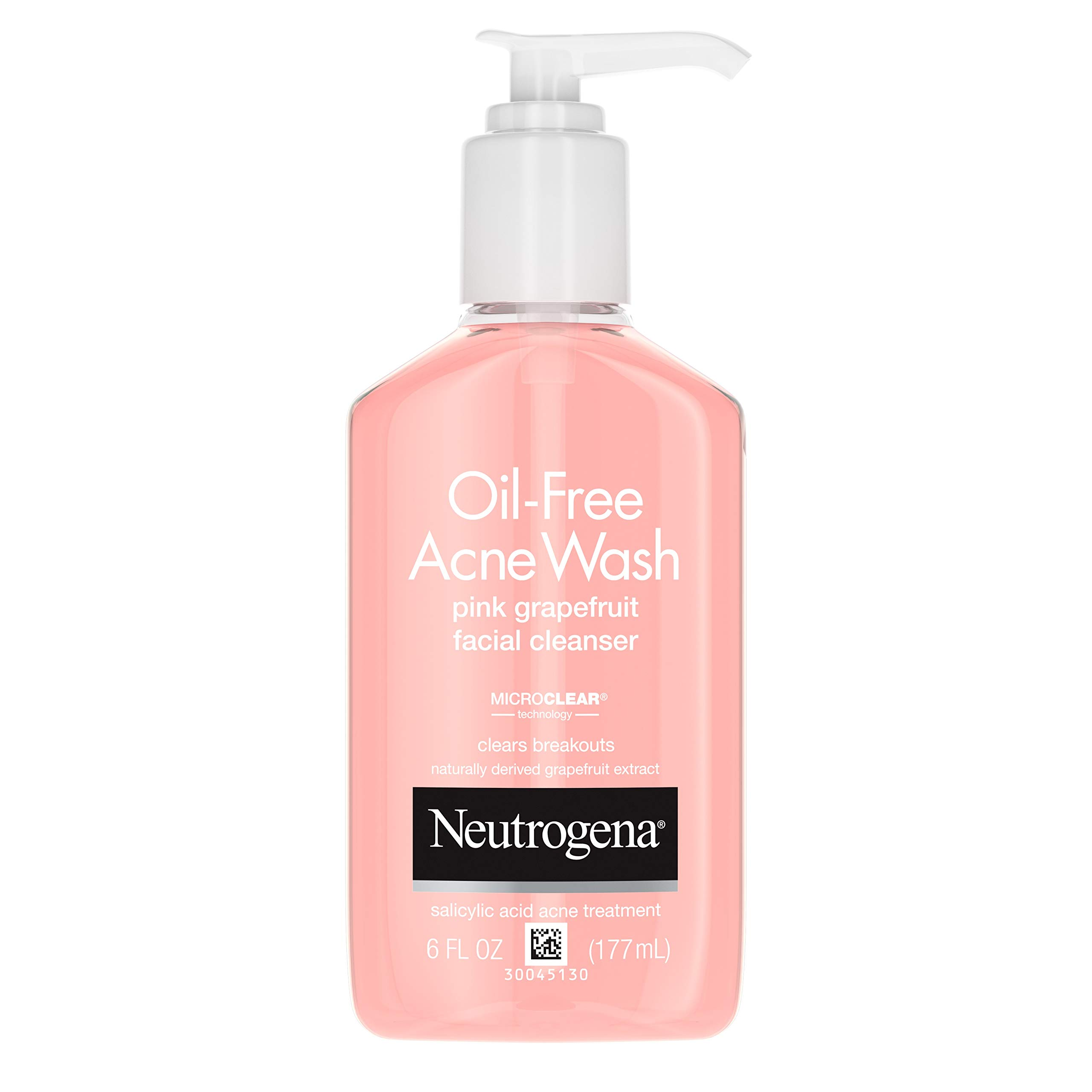 Neutrogena Oil-Free Pink Grapefruit Pore Cleansing Acne Wash and Daily Liquid Facial Cleanser with 2% Salicylic Acid…