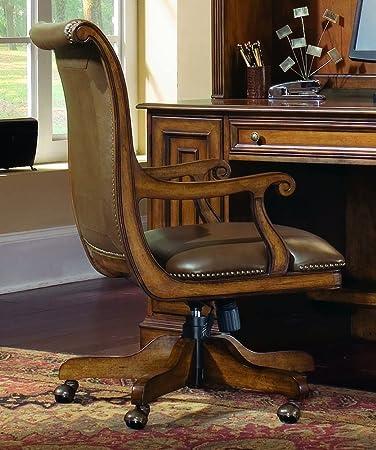 Attractive Hooker Furniture Brookhaven Desk Chair In Medium Clear Cherry