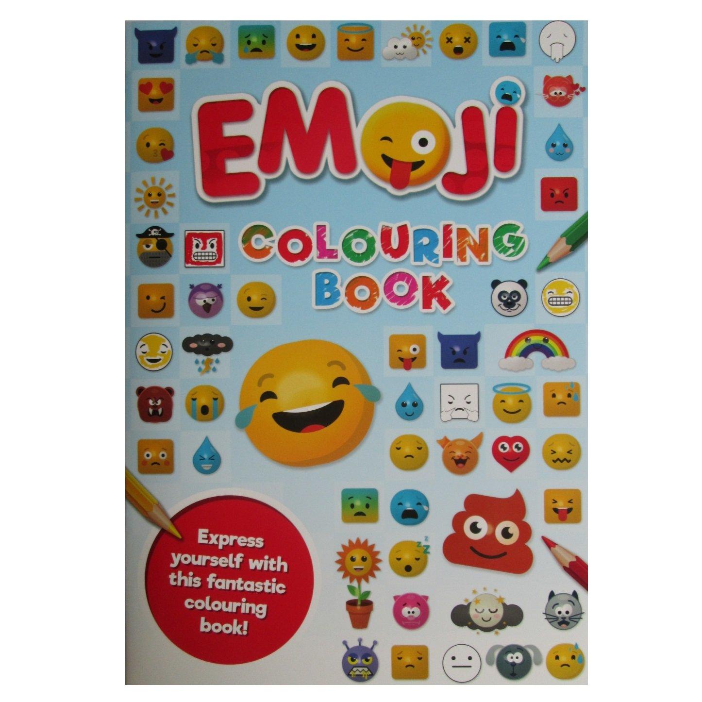 Bleu Emoji Livre De Coloriage A4 Alligator Books 3045 Ejcb1