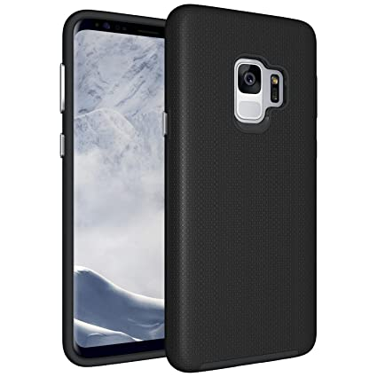 purchase cheap 4de71 d607e Amazon.com: Samsung Galaxy S9 Case, Galaxy S9 Hybrid Case, Galaxy S9 ...