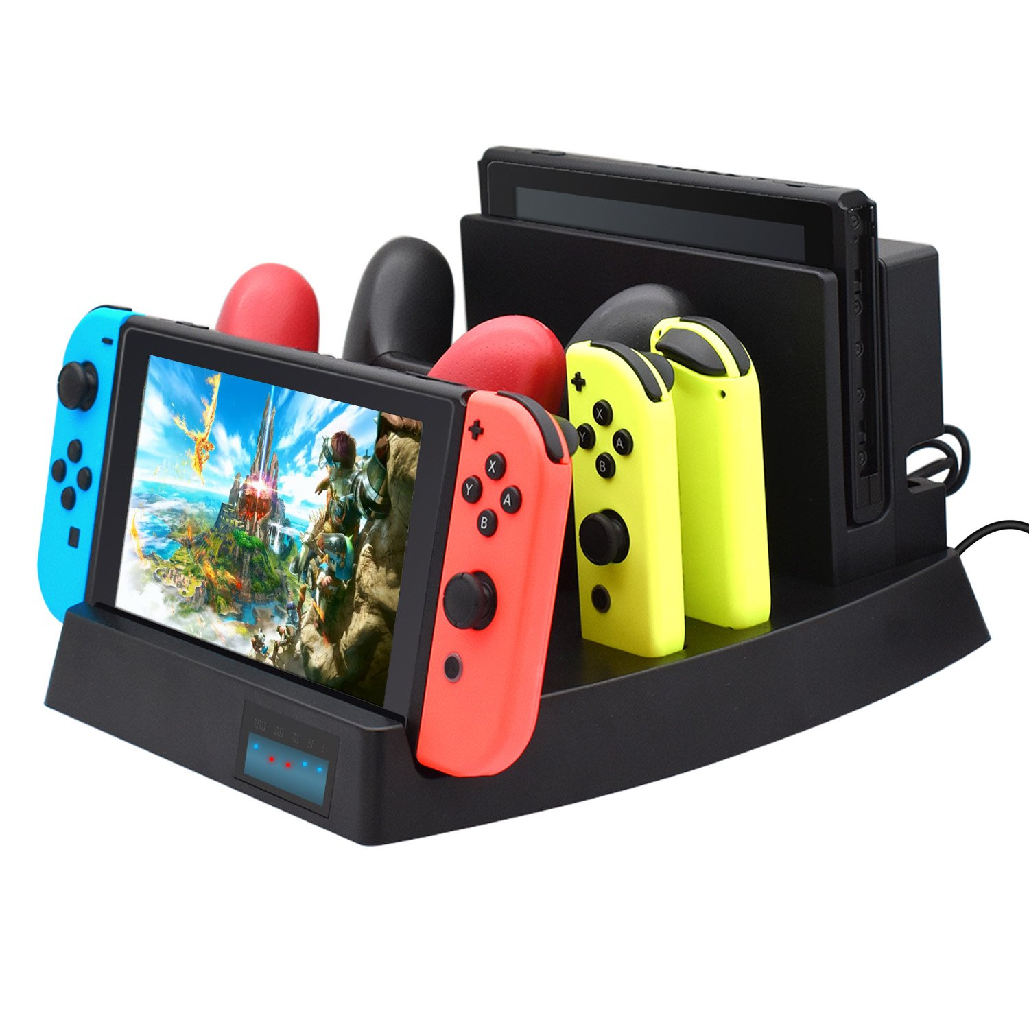 Charging Dock for Nintendo Switch,FYOUNG Charger Stand for Nintendo Switch Console,Switch Pro controllers and Joy-Cons with 1 USB Type-C Cable and 1 DC Cable