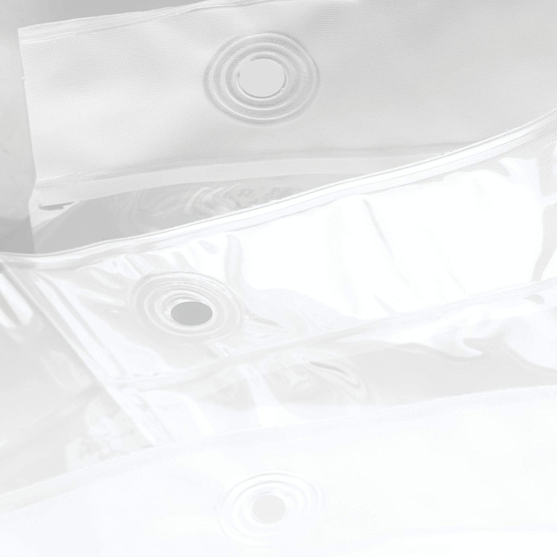 "iDesign Waterproof PEVA Bathroom Shower Curtain Liner - 72"" x 72"", Clear: Home & Kitchen"