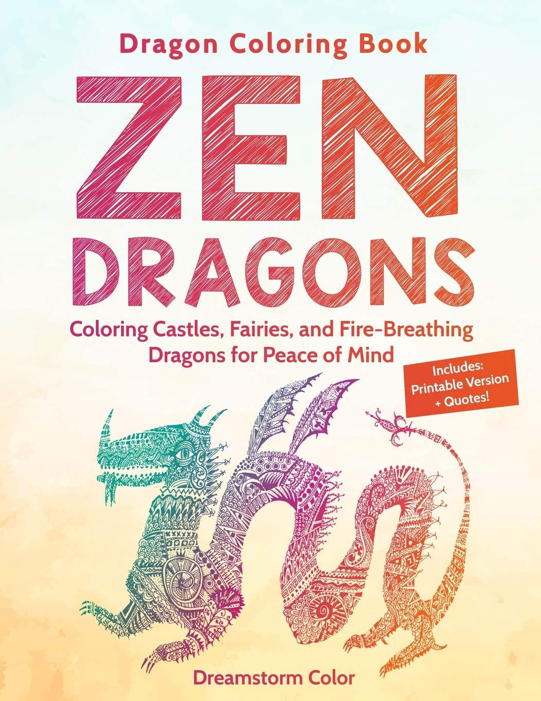 Amazon.com: Dragon Coloring Book: Zen Dragons. Coloring Castles ...