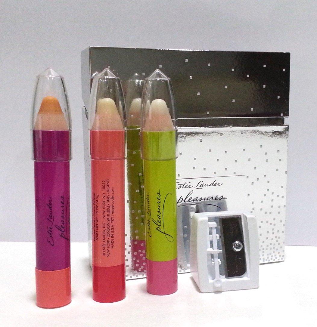 Estee Lauder Pleasures Perfume Pencil Collection Boxed