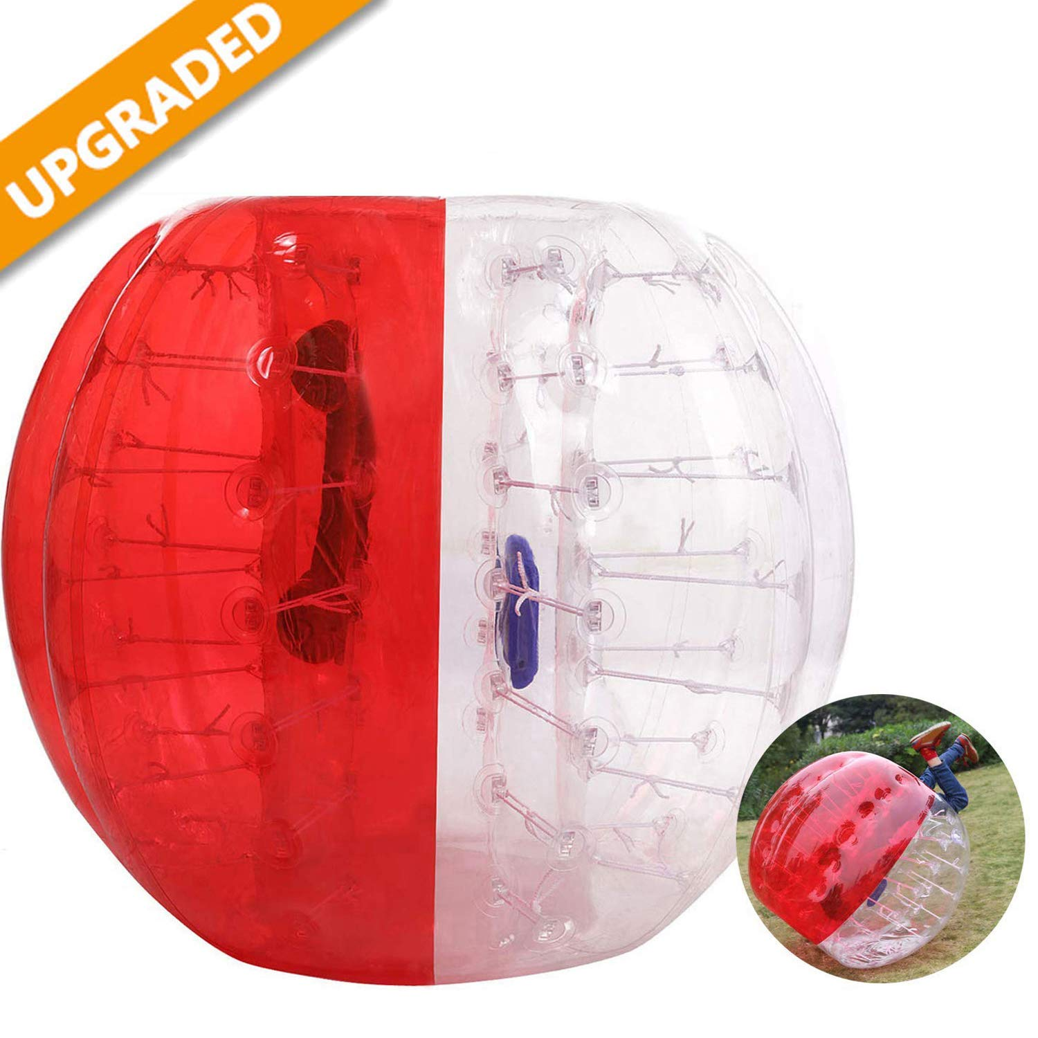 Hurbo Inflatable Bumper Ball Bubble Soccer Ball Giant Human Hamster Ball for Adults and Kids (Red) by Hurbo