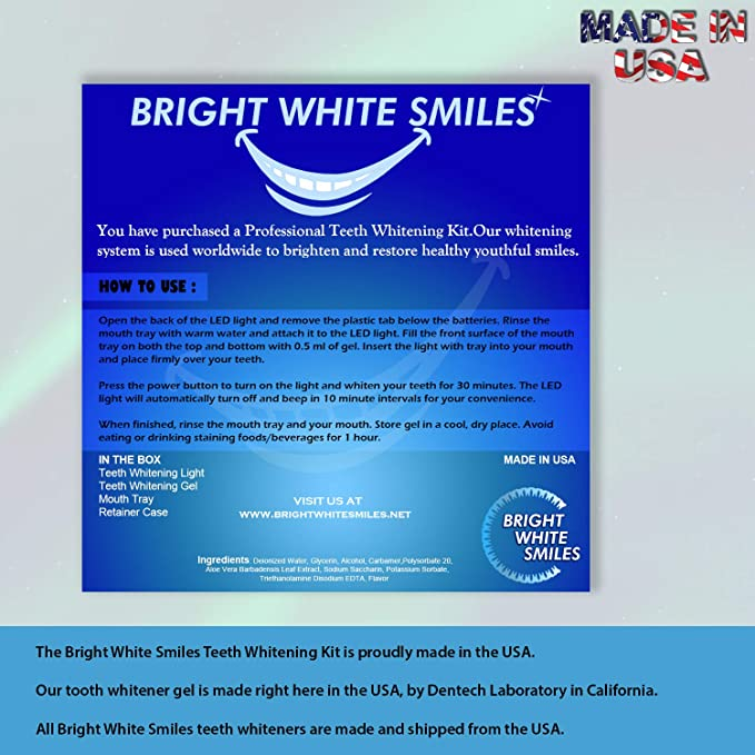 Amazon Com Bright White Smiles Teeth Whitening Kit Led Light
