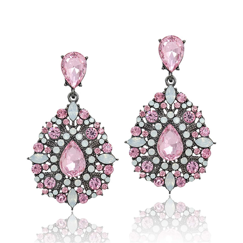 Bnialaed Dangle Earrings Full Of Rhinestone Crystal Drop Earring Luxury Earrings Vintage Jewelry