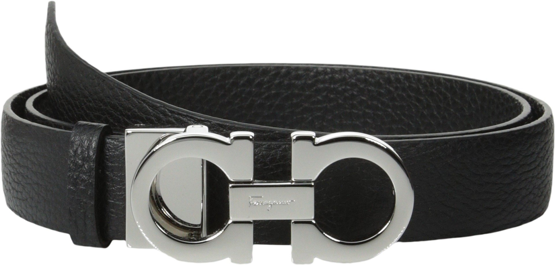 Salvatore Ferragamo Women's 237601 Double Gancini Wide Belt Nero 90 (36'' Waist) by Salvatore Ferragamo