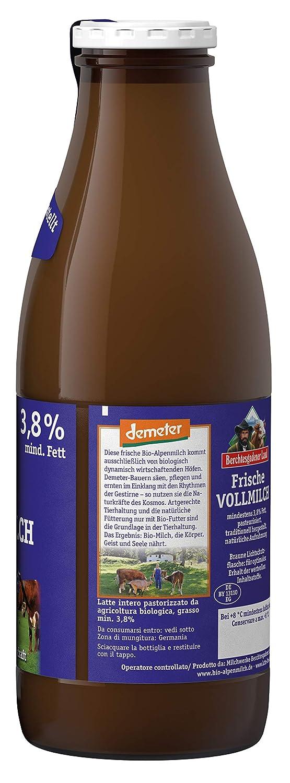 Berchtesgadener Land Bio Frische Demeter Bio Alpenmilch 3 8 Fett Mehrweg 1 L Amazon De Lebensmittel Getranke