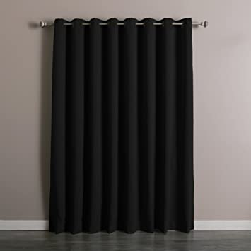 Best Home Fashion Wide Width Thermal Insulated Blackout Curtain   Antique  Bronze Grommet Top   Black
