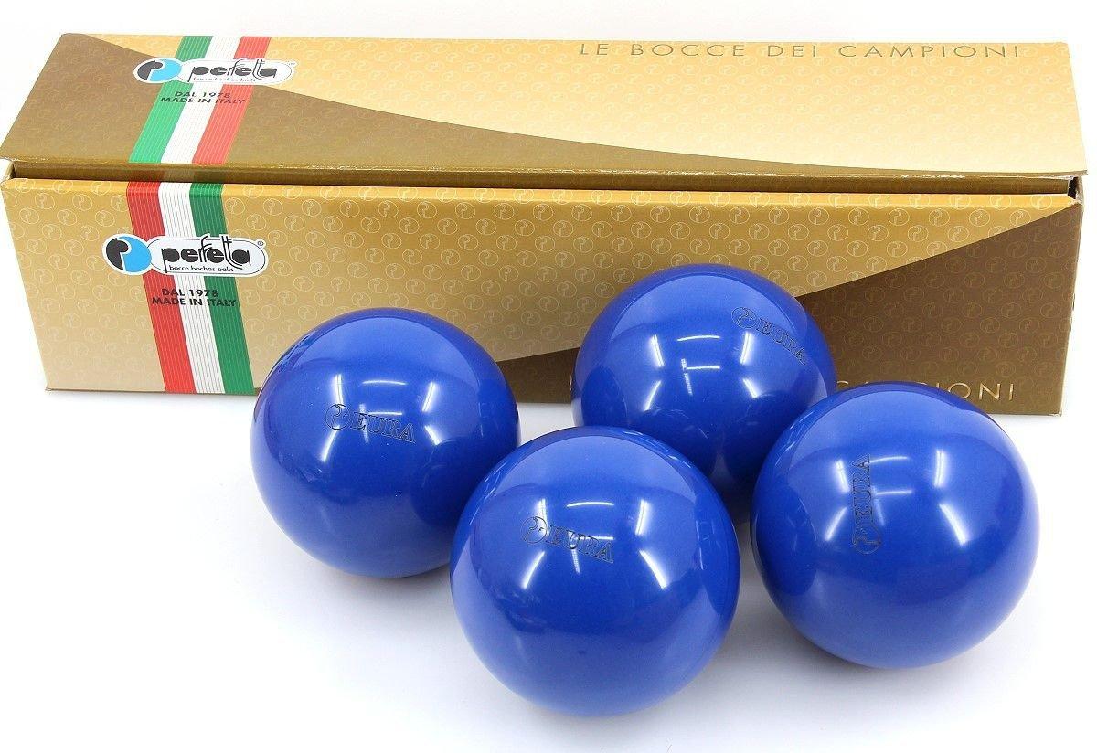 Perfetta EURA BLU Wettkampf Boccia Kugeln (4er Satz) in Blau