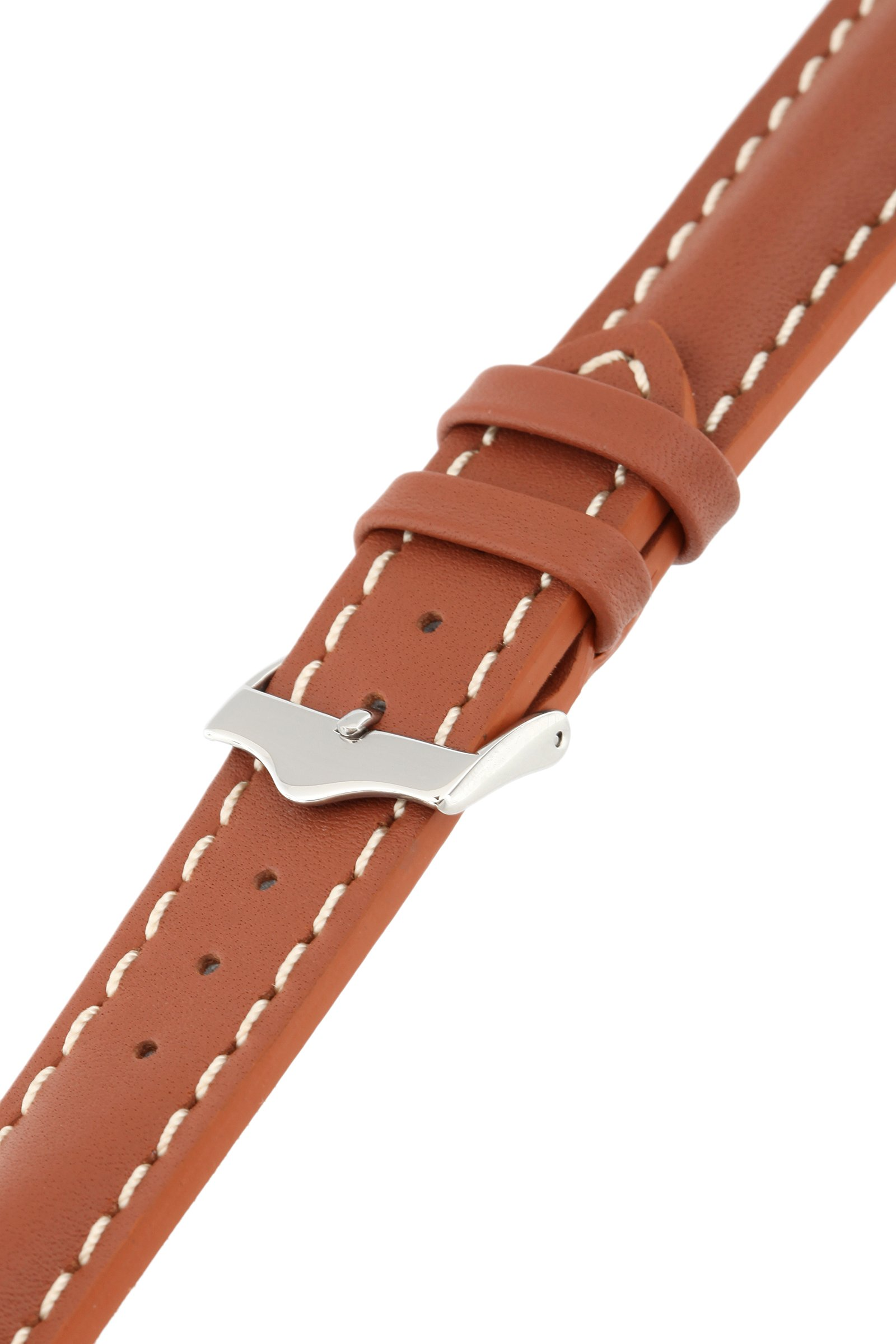 Signature Racing Wood 20 mm watch band. Replacement watch strap. Genuine Leather. Silver buckle by Signature (Image #4)