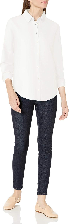 Camicia in Lino A Maniche Lunghe Dress-Shirts Donna Essentials